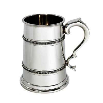 Celtic Double Band Tankard TWO Pint