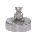 Teddy Bear Pewter Trinket Box