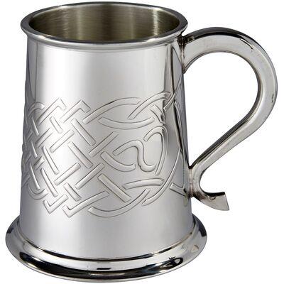Islay Celtic Embossed Pewter Tankard