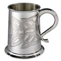 Skye Celtic Embossed Pewter Tankard
