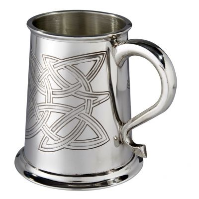Skye Celtic Embossed Pewter Tankard