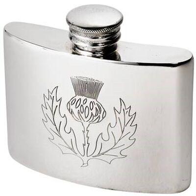 Thistle Pewter Kidney Flask 2oz