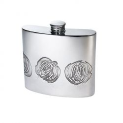 Charles Rennie Mackintosh Rose Pewter Kidney Hip Flask