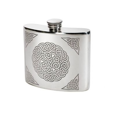 Celtic Knot Kidney Hip Flask