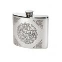 Celtic Knot Pewter Kidney Hip Flask