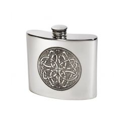 Celtic Circle Kidney Hip Flask