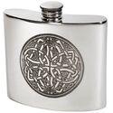 Celtic Circle Kidney Hip Flask