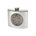 Celtic Circle Pewter Kidney Hip Flask