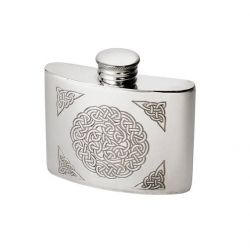 Celtic Knot Pewter kidney Hip Flask 2oz