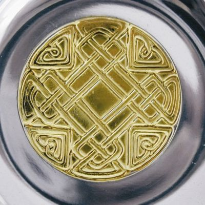 Celtic Gold Pewter and Brass Quaich
