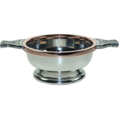 Copper Rim Pewter Quaich, Medium