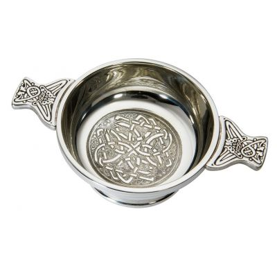 Celtic Circle Pewter Quaich