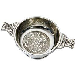 Celtic Circle Pewter Quaich