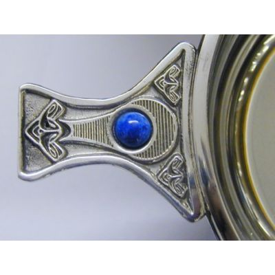 Gem Handle Pewter Quaich