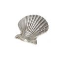 Baby Scallop Pewter Shell Ornament