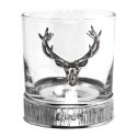 Majestic Stag Pewter Whiskey Glass
