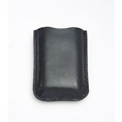 Black Leather Pouch 3oz Pocket Flasks