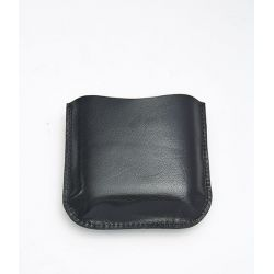Black Leather Pouch 4oz Pocket Flasks