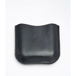 Black Leather Pouch  6oz Pocket Flasks
