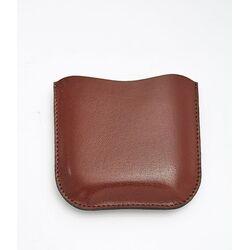 Black Leather Pouch  6oz Pocket Flasks