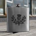 Thistle Design Hip Flask