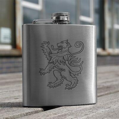 Lion Rampant Design Hip Flask