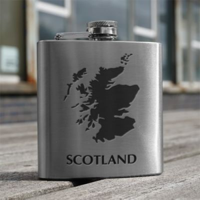 Map of Scotland Design Hip Flask