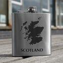 Map of Scotland Design Hip Flask