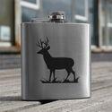 Stag Design Hip Flask