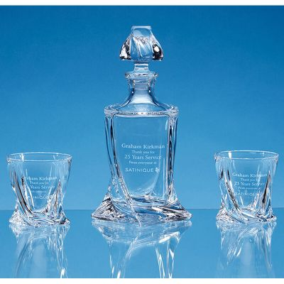 Quatro Whiskey Glass and Decanter Set