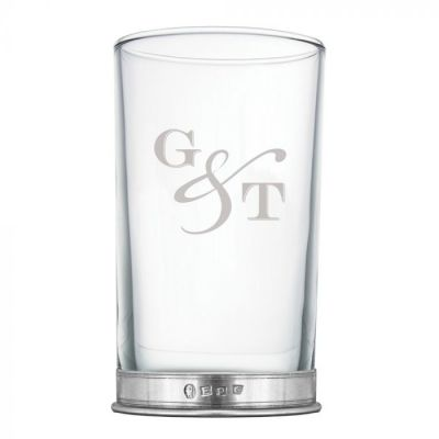 G & T Large Tall Glass