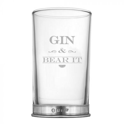 GIN & BEAR IT Tall Glass