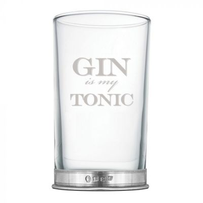 GIN IS MY TONIC Large Tall Glass