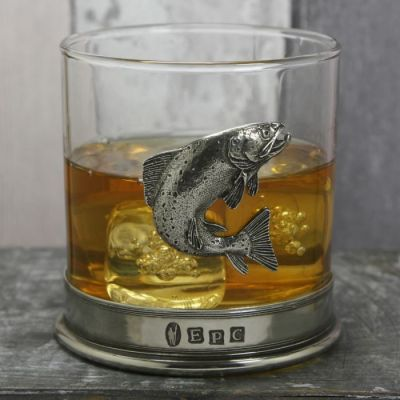 Trout Whiskey Glass