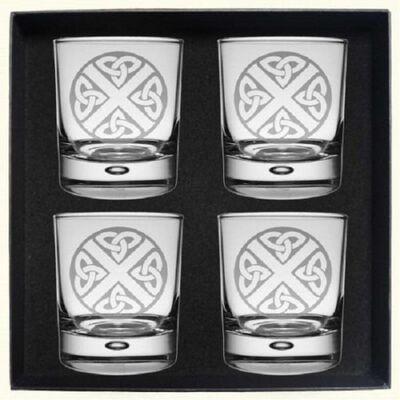 Celtic Thistle Whisky Glass