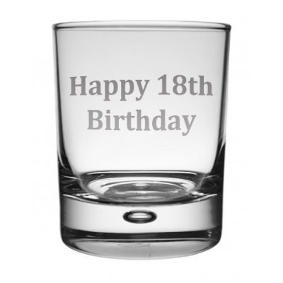 Happy 18th Whisky Glass