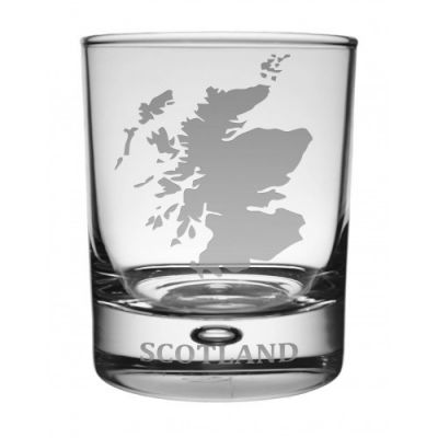 Scotland Map Whisky Glass
