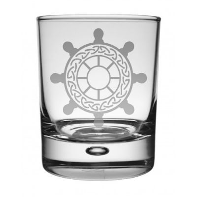 Ships Wheel Whisky Glass