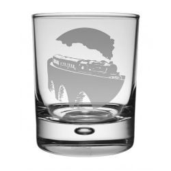 Steam Train Whisky Glass