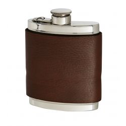 Bourneville Leather Hip Flask
