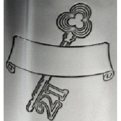 21 Key Stamp Kidney Hip Flask
