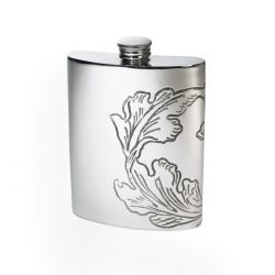 Acanthus Kidney Hip Flask