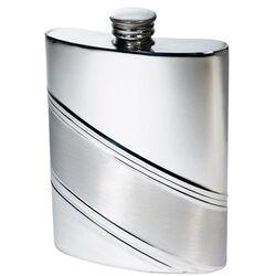 Diagonal Stripe Kidney Hip Flask