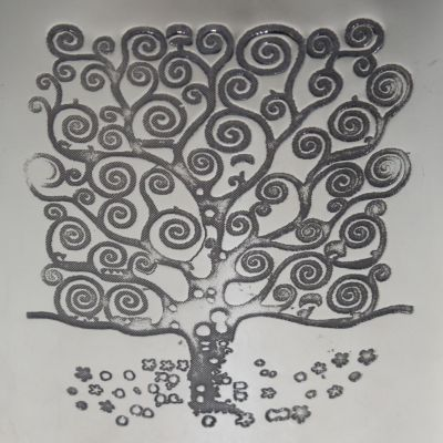 Tree of Life Kidney Hip Flask 4oz