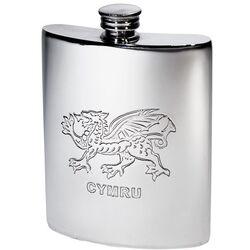Welsh Dragon Kidney Hip Flask