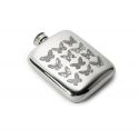 Butterfly Pewter Pocket Flask