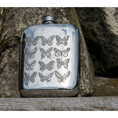 Butterfly Pocket Flask