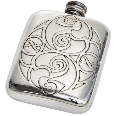 Celtic Spirals Pocket Flask