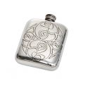 Celtic Spirals Pewter Pocket Flask