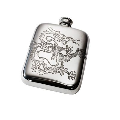 Chinese Dragon Pocket Flask